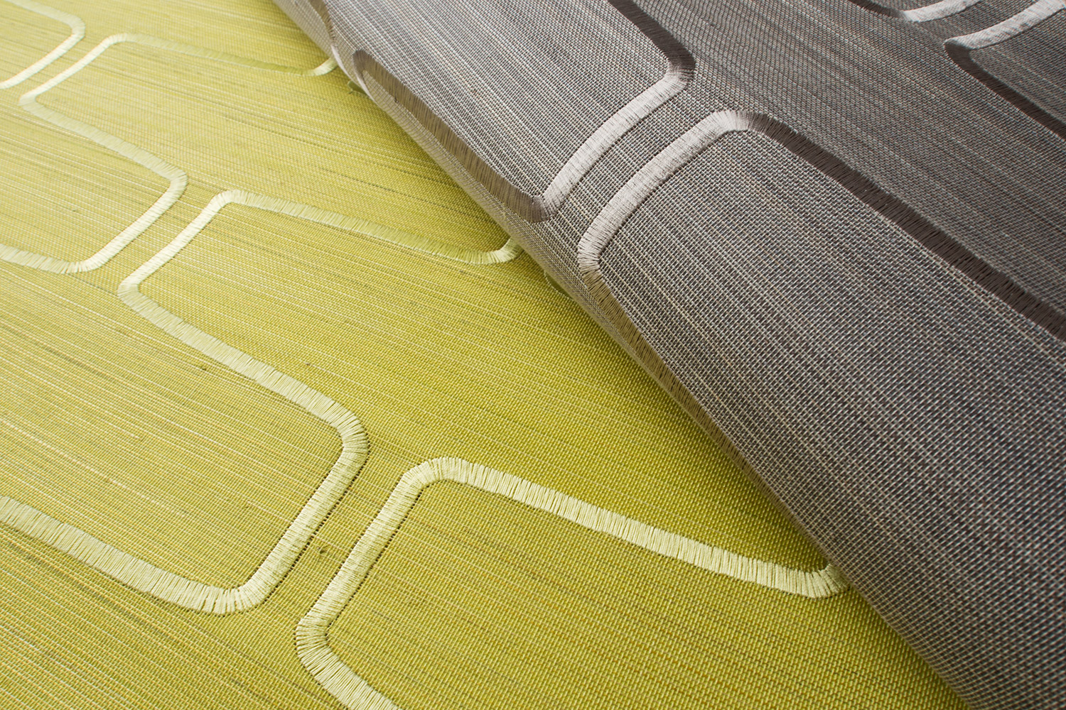 Giardini textile wallpaper, yellow, grey