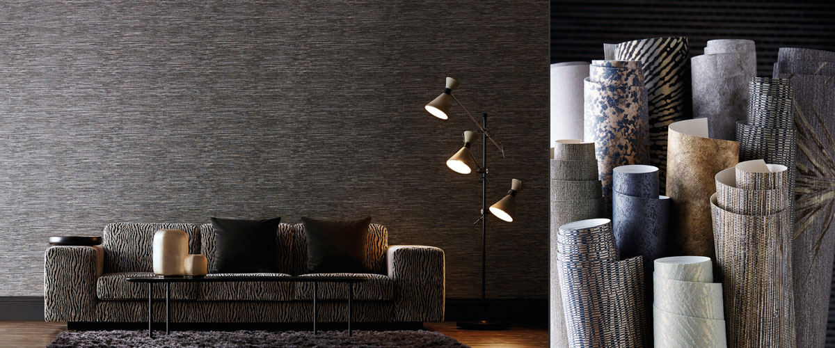 Anthology industrial grey wallpaper